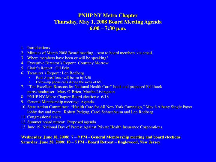 PNHP NY Metro Chapter