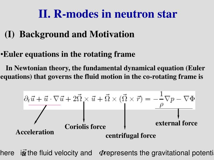 II. R-modes in neutron star