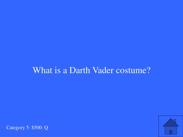 What is a Darth Vader costume?