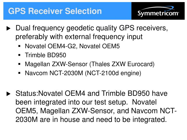 GPS Receiver Selection
