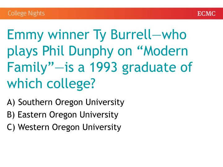 Emmy winner Ty Burrell—who plays Phil Dunphy on
