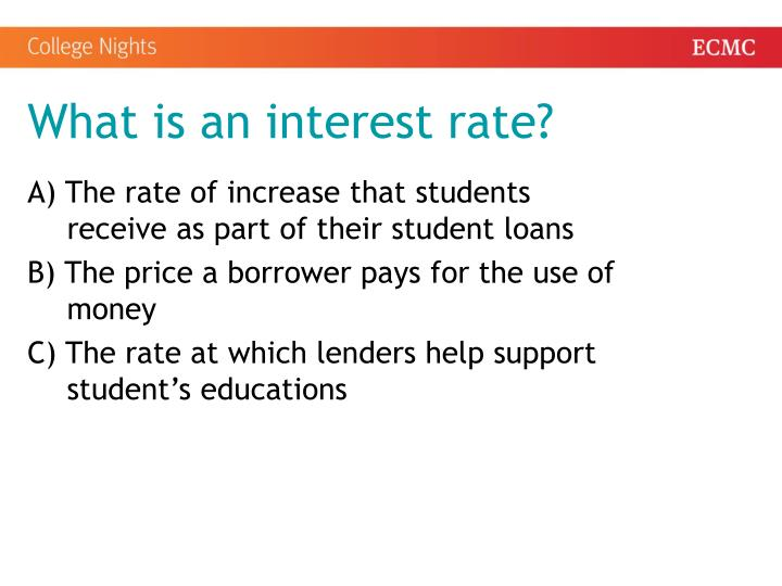 What is an interest rate?