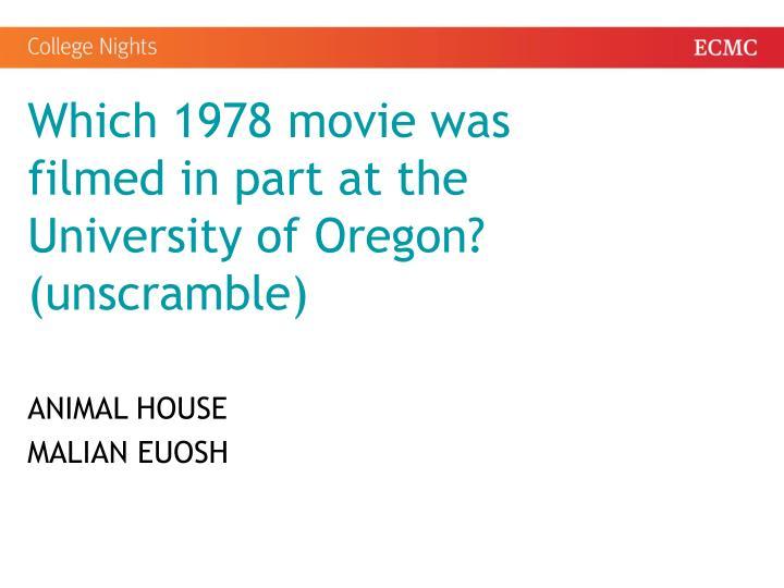 Which 1978 movie was