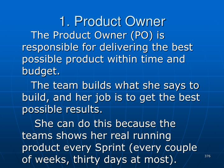 1. Product Owner