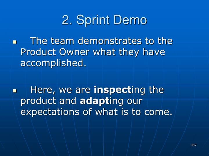 2. Sprint Demo