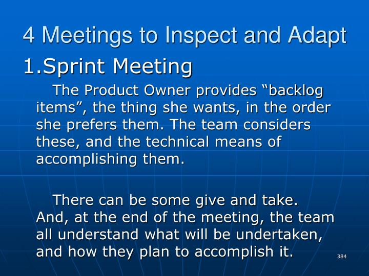 4 Meetings to Inspect and Adapt