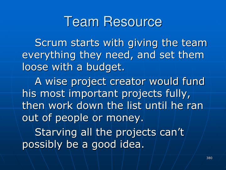 Team Resource