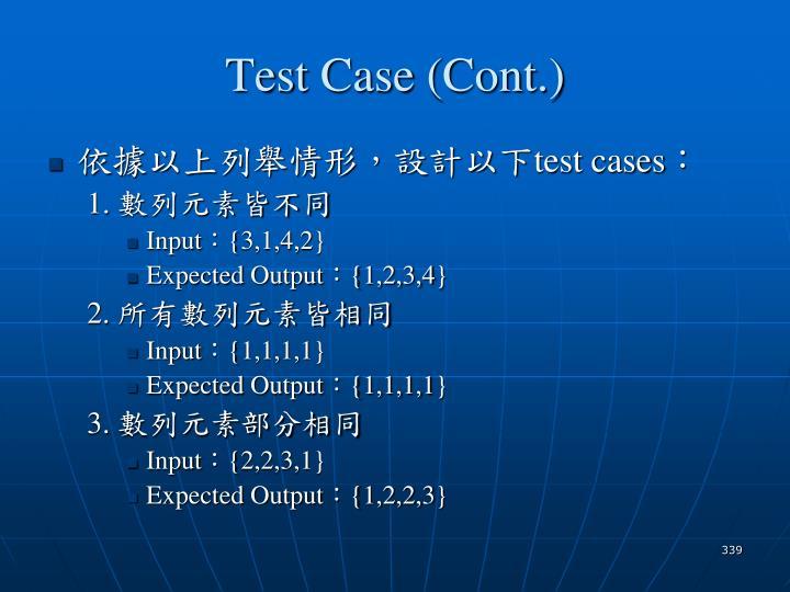 Test Case (Cont.)