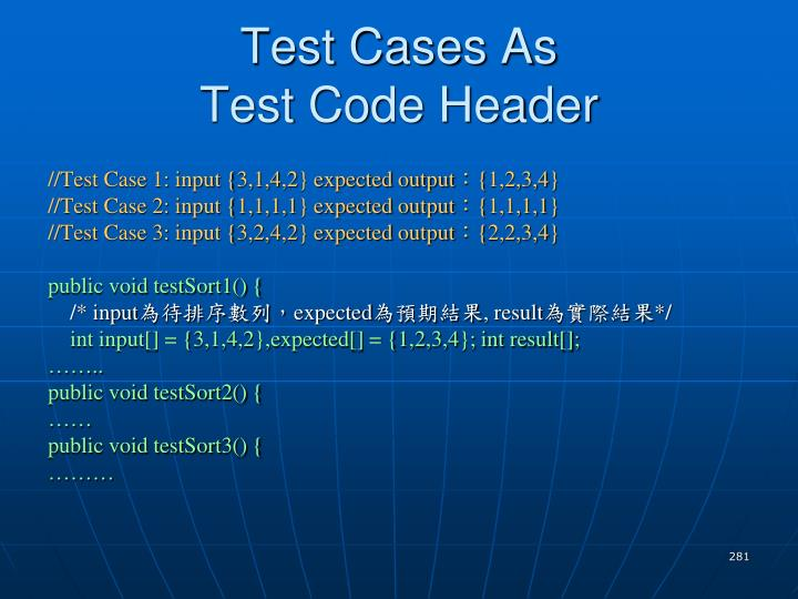 Test Cases As