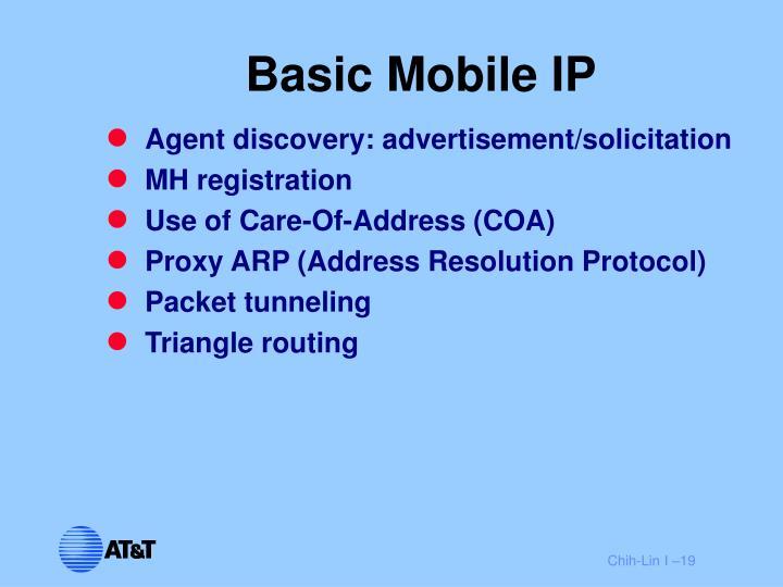 Basic Mobile IP