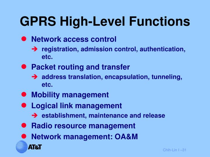 GPRS High-Level Functions