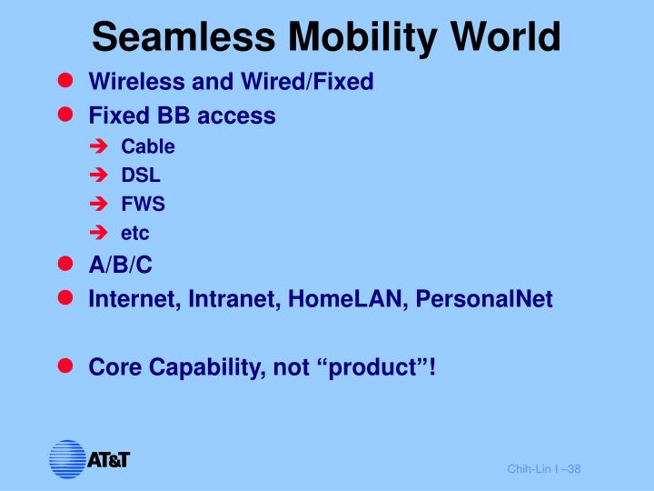 Seamless Mobility World