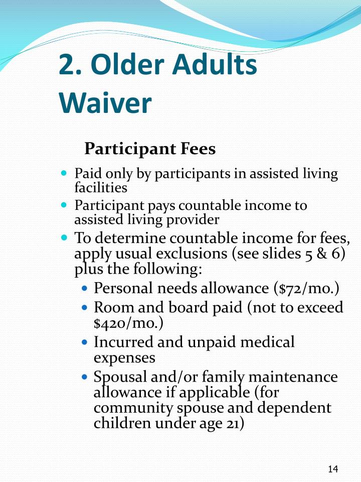2. Older Adults Waiver