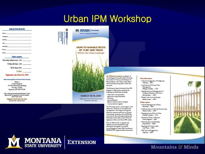 Urban IPM Workshop