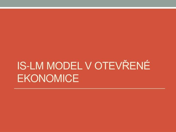 IS-LM model v otevřené ekonomice