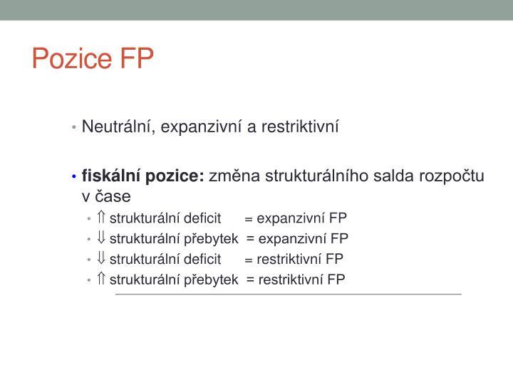 Pozice FP