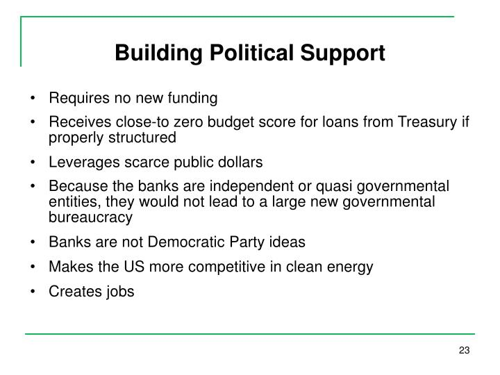 Building Political Support