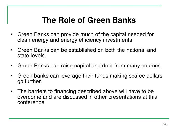 The Role of Green Banks