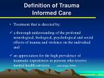 definition of trauma informed care