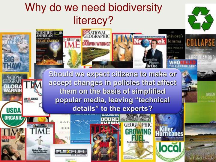 Why do we need biodiversity literacy?