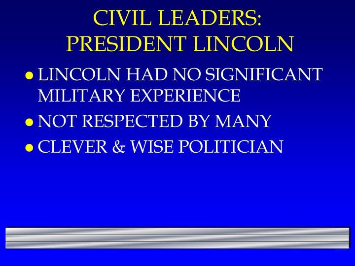CIVIL LEADERS: