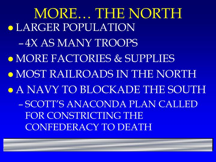 MORE… THE NORTH