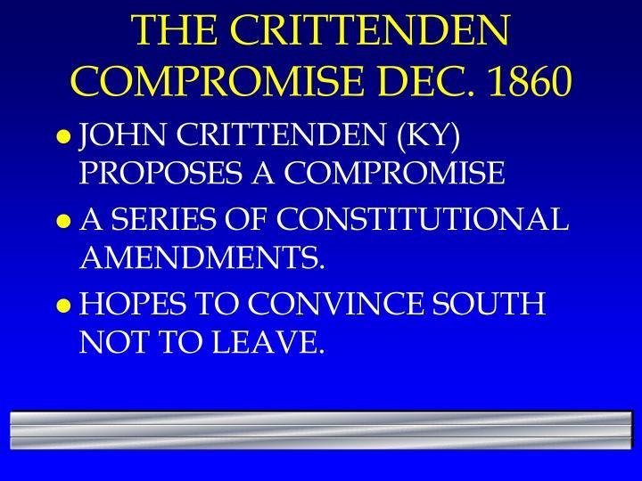 The crittenden compromise dec 1860
