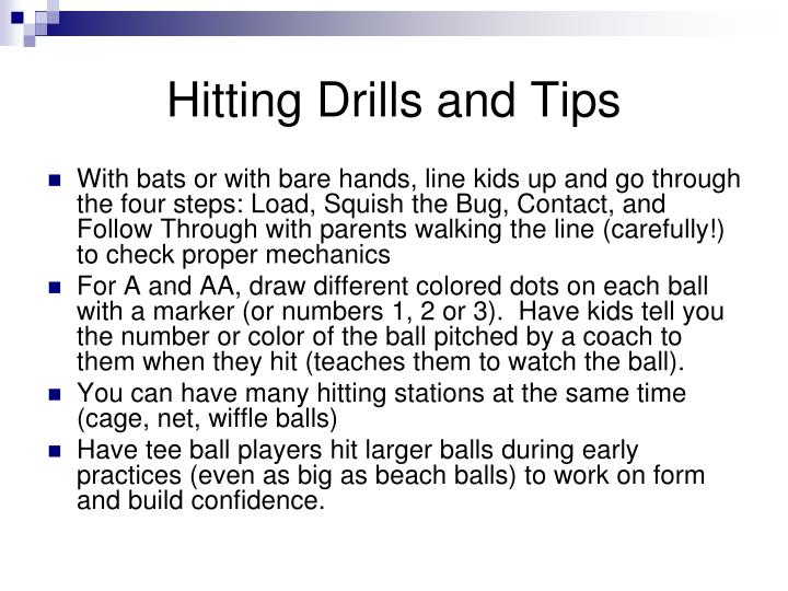 Hitting Drills and Tips