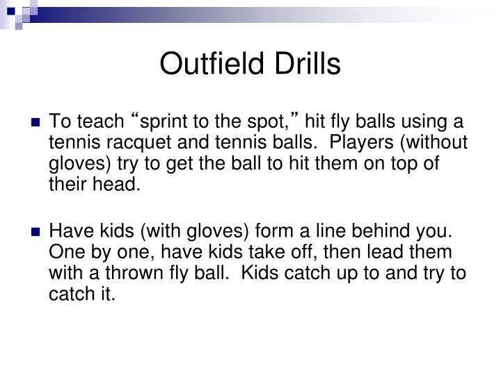 Outfield Drills