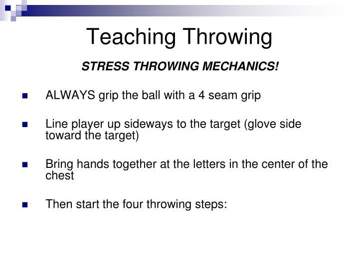 Teaching Throwing
