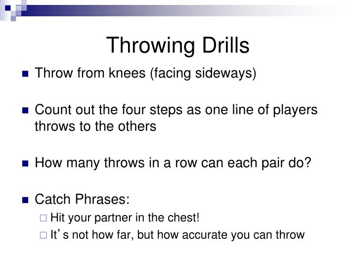 Throwing Drills
