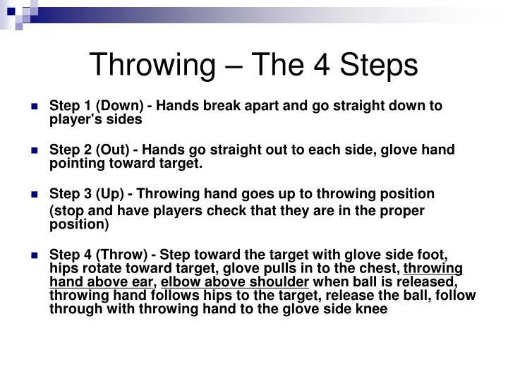 Throwing – The 4 Steps