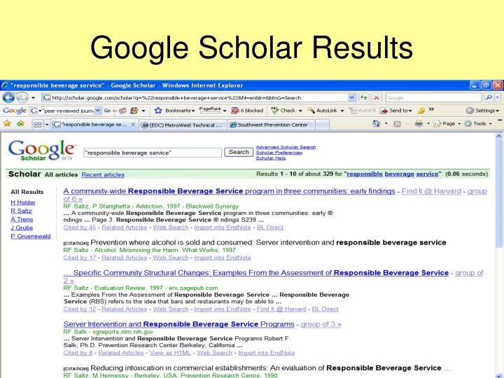 Google Scholar Results