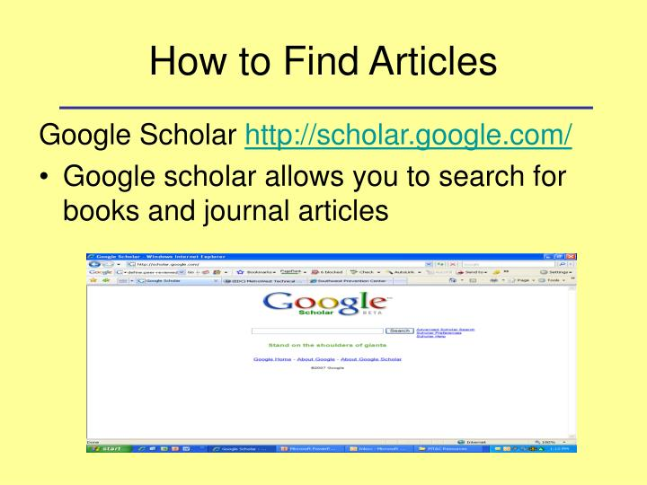 How to Find Articles