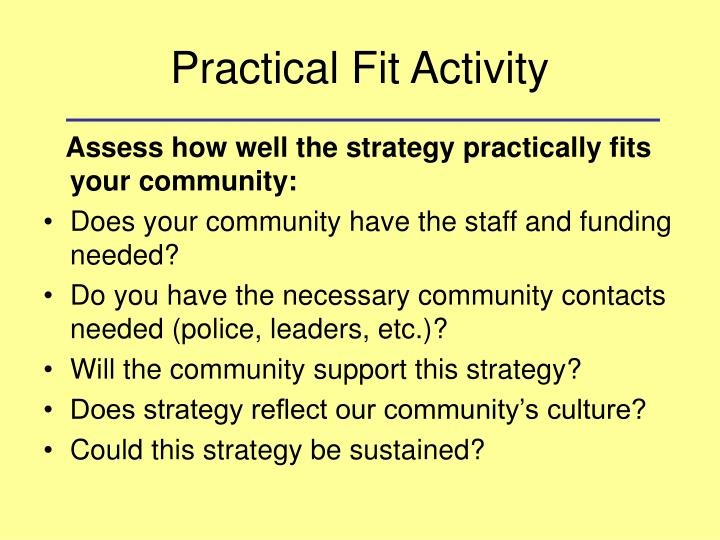Practical Fit Activity