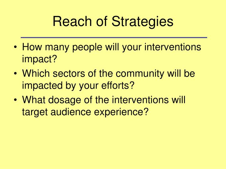 Reach of Strategies