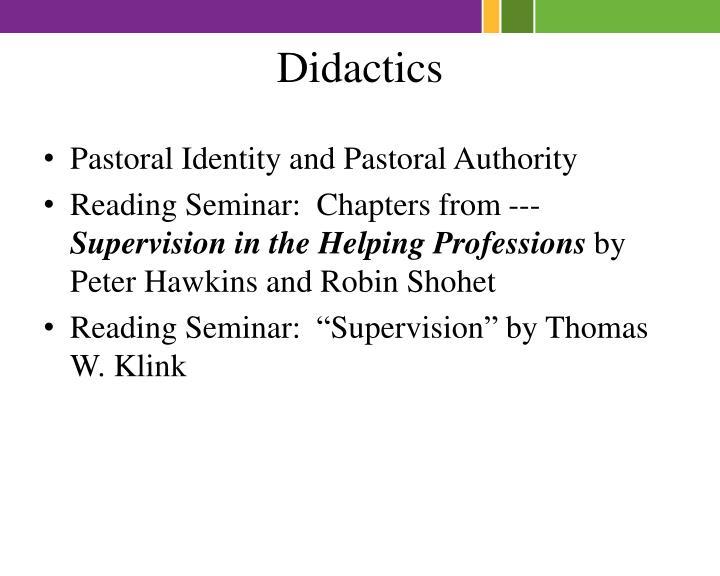Didactics
