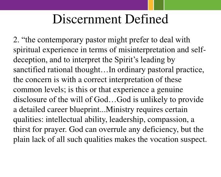 Discernment Defined