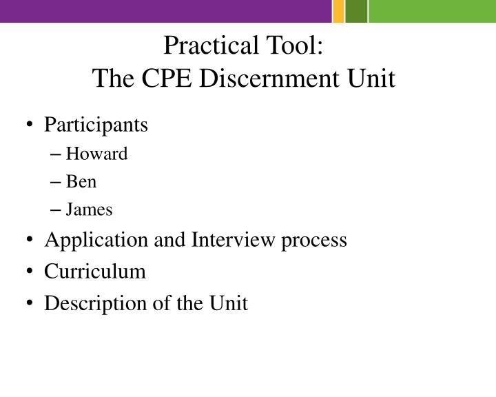 Practical Tool: