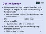 control latency