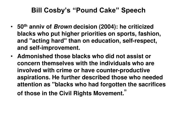 "Bill Cosby's ""Pound Cake"" Speech"