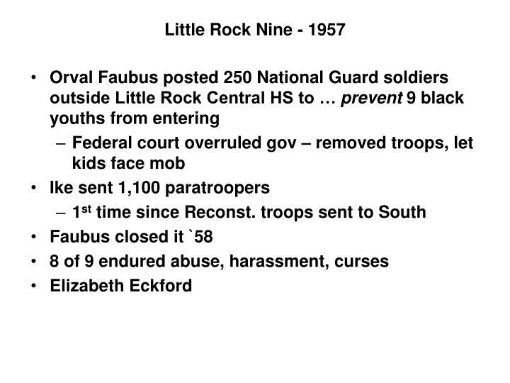 Little Rock Nine - 1957