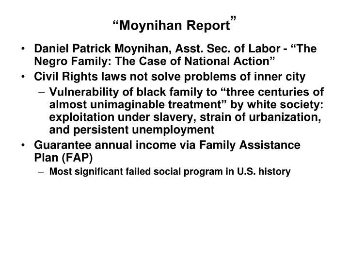 """""""Moynihan Report"""