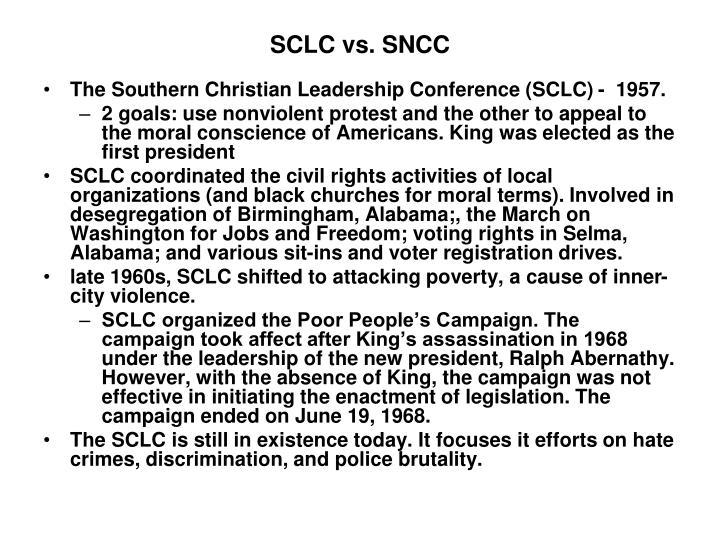 SCLC vs. SNCC