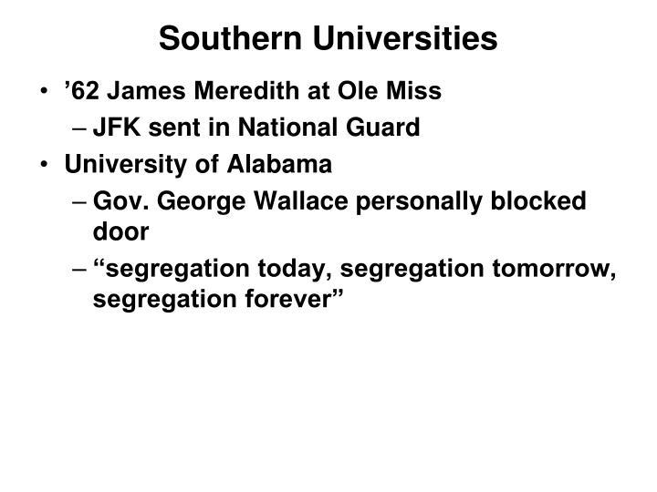 Southern Universities
