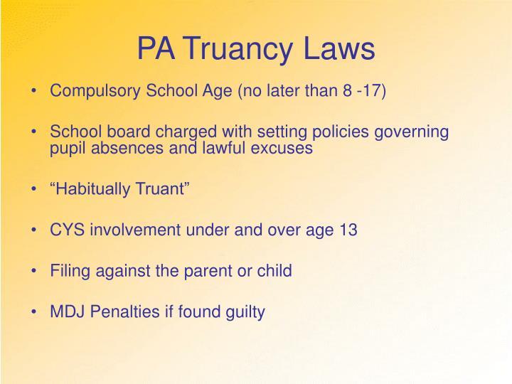 PA Truancy Laws