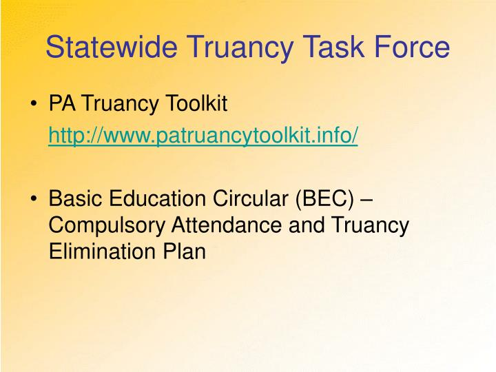 Statewide Truancy Task Force