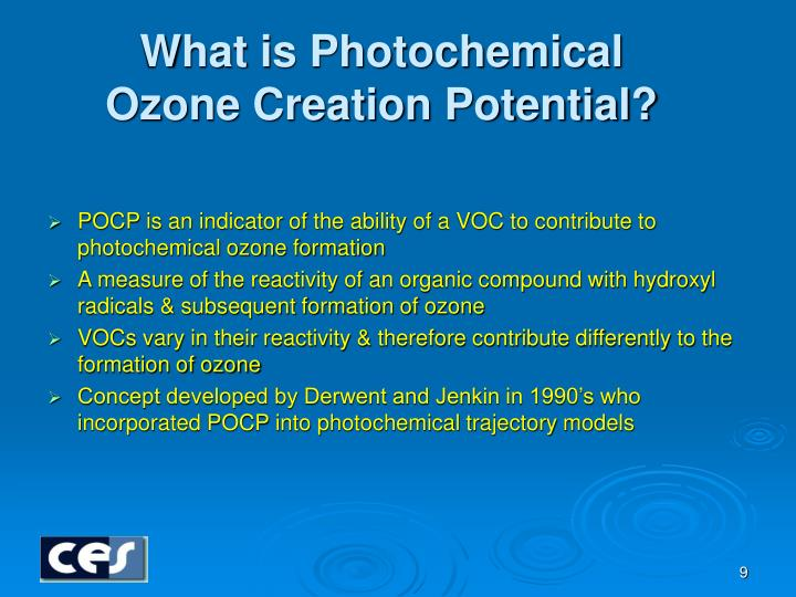 What is Photochemical Ozone Creation Potential?