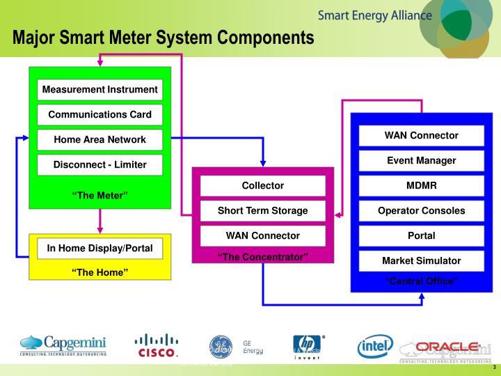 Major smart meter system components1