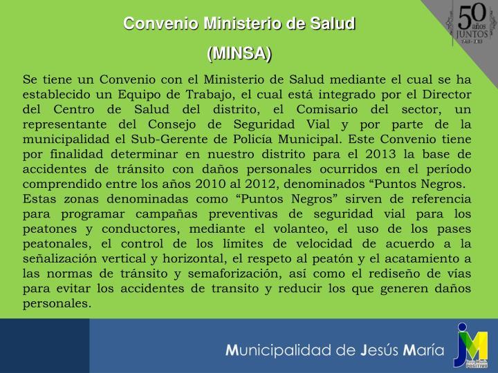 Convenio Ministerio de Salud